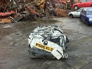 Car Scrapped in New Brighton
